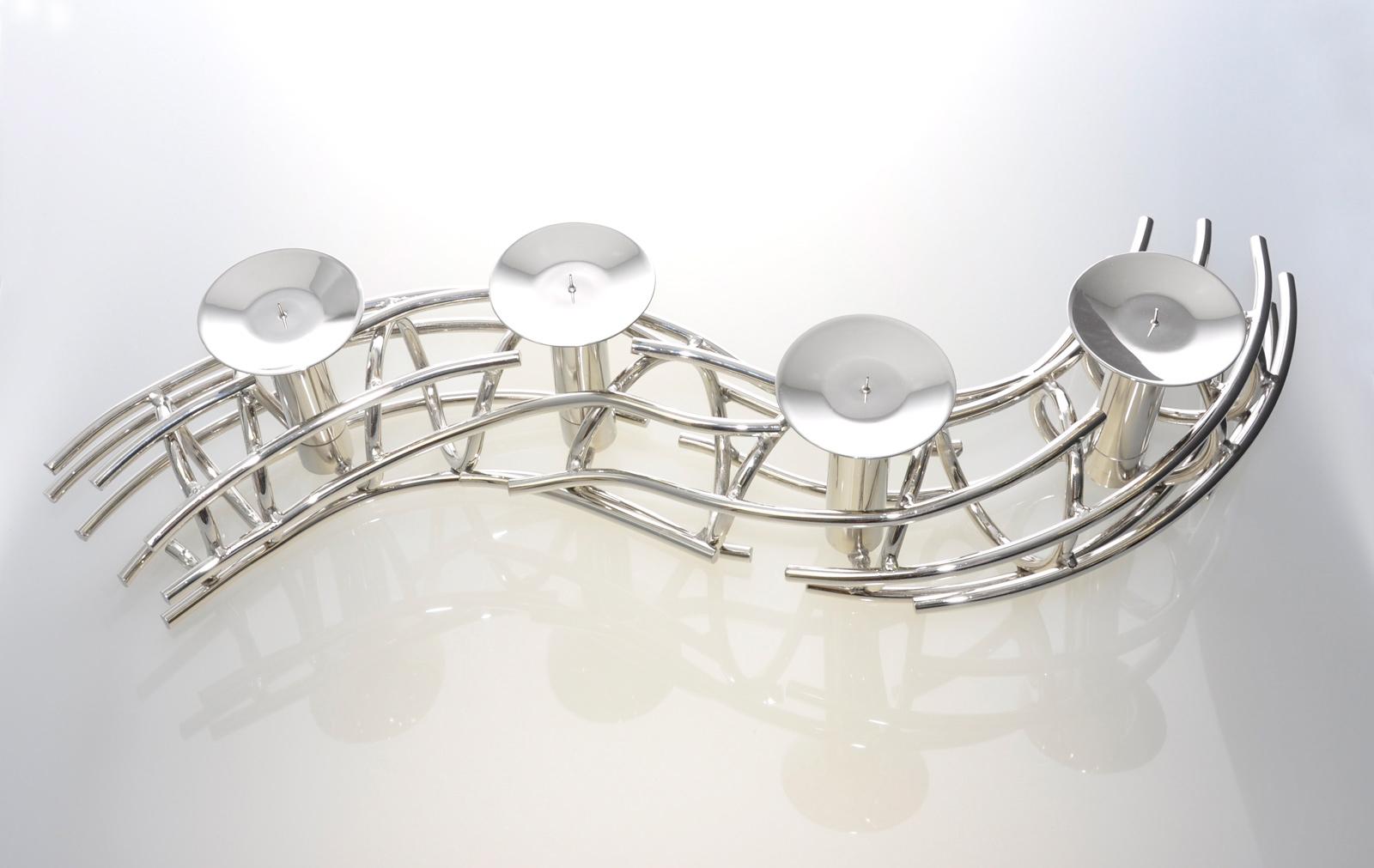 fink corona leuchter 86 cm 4 flammig vernickelt top. Black Bedroom Furniture Sets. Home Design Ideas
