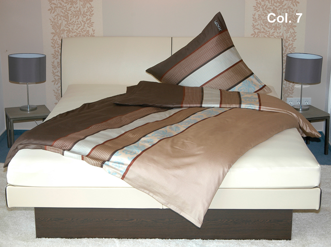 joop bettw sche ornament stripe 135x200cm col 7 mokka ebay. Black Bedroom Furniture Sets. Home Design Ideas